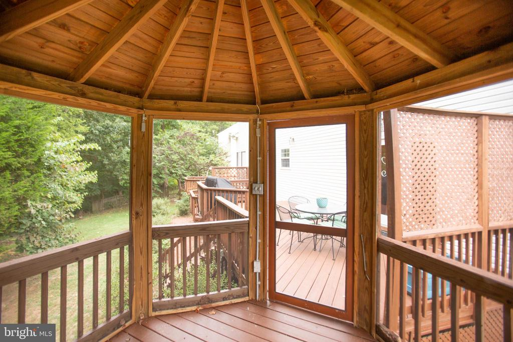 Screened in Gazebo - 9806 RAMSAY DR, FREDERICKSBURG