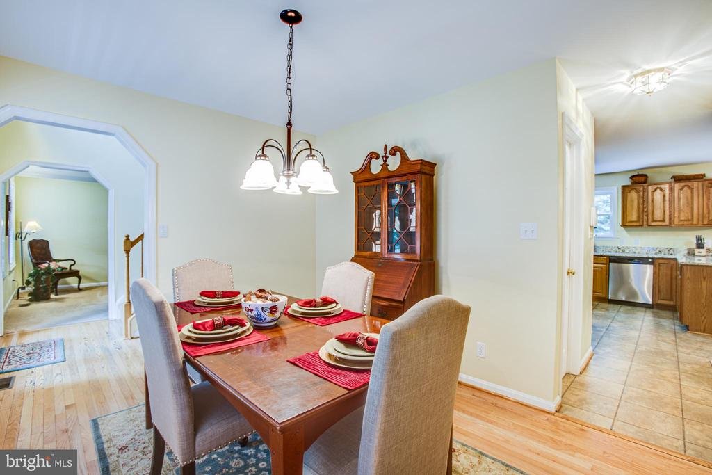Views of Formal Living Room & Kitchen from Dining - 9806 RAMSAY DR, FREDERICKSBURG
