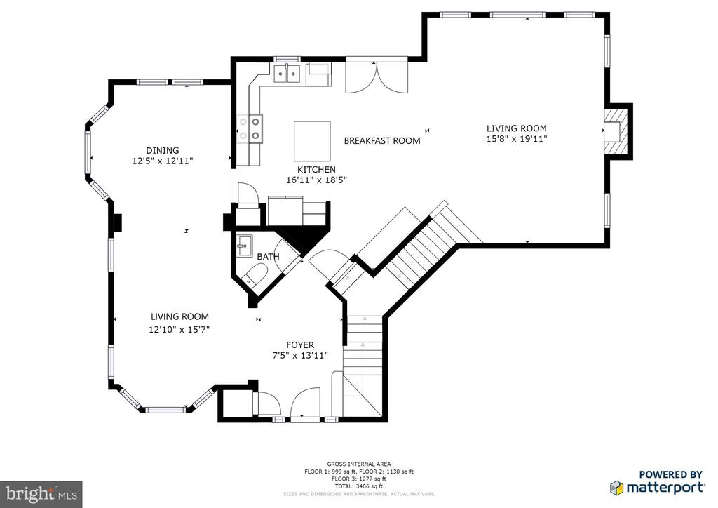 Main level floorplan - 1308 FEATHERSTONE LN NE, LEESBURG