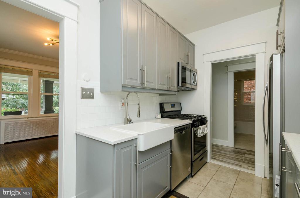 1st. Floor Kitchen - 1307 LONGFELLOW ST NW, WASHINGTON