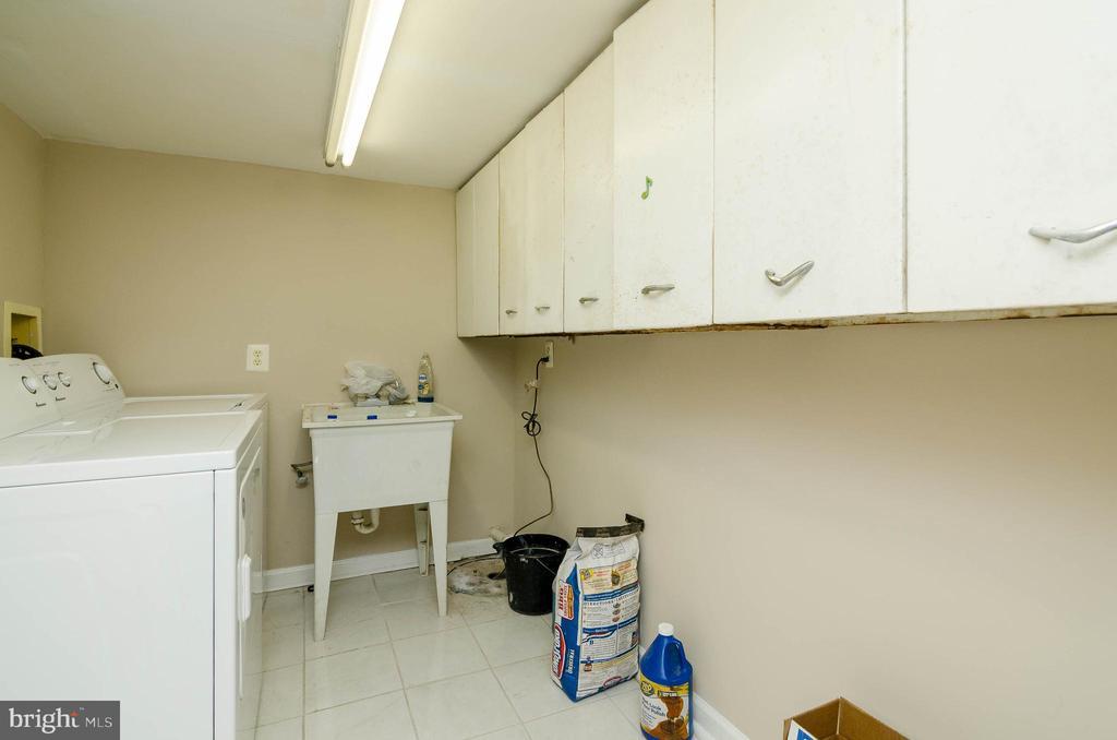 Basement Laundry Room - 1307 LONGFELLOW ST NW, WASHINGTON