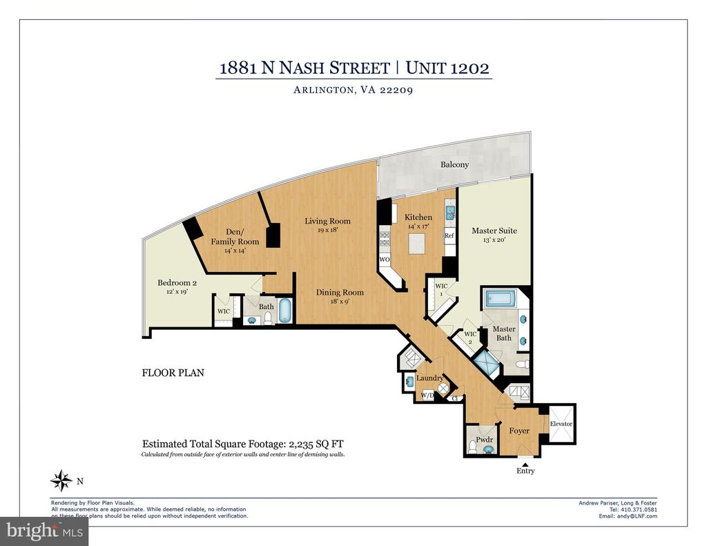 Floor Plan - 1881 N NASH ST #1202, ARLINGTON
