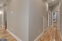 Hallway to Master & 2nd Bedroom - 1235 S ST NW #1, WASHINGTON