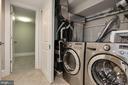 Lower Level Hallway with Washer/Dryer/HVAC - 1235 S ST NW #1, WASHINGTON