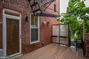Private Deck off Main Level - 1235 S ST NW #1, WASHINGTON