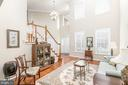 living room view/ front entrance - 25327 JUSTICE DR, CHANTILLY