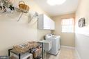 oversized laundry room w/ wash sink - 25327 JUSTICE DR, CHANTILLY
