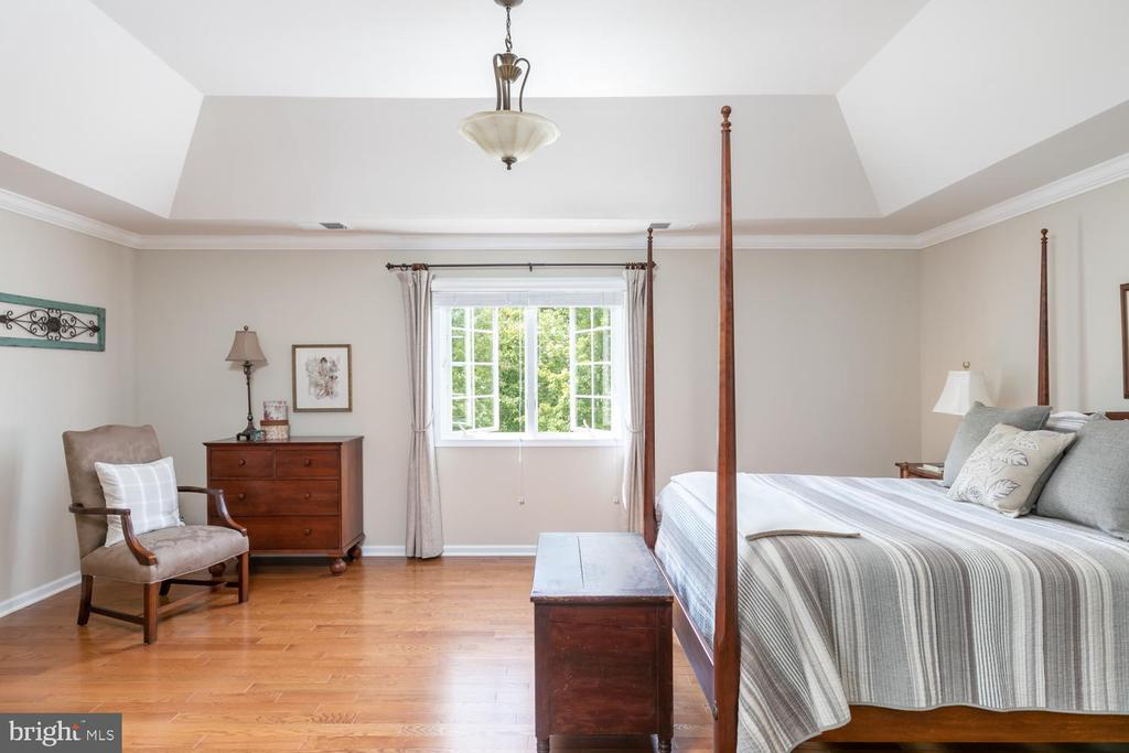 master bedroom - the view is delightful - 25327 JUSTICE DR, CHANTILLY