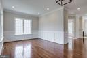 Bright and open living room. - 2054 ARCH DR, FALLS CHURCH