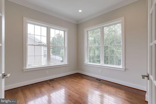 French doors opens to office/library. - 2054 ARCH DR, FALLS CHURCH