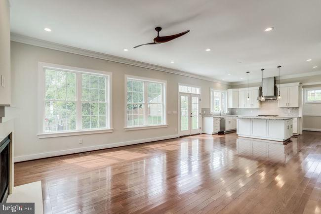 Family room view and chef's kitchen. - 2054 ARCH DR, FALLS CHURCH