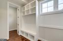 Mudroom with lots of space and storage. - 2054 ARCH DR, FALLS CHURCH