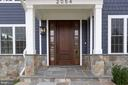 Welcoming doorway w/ brushed nickel hardware. - 2054 ARCH DR, FALLS CHURCH
