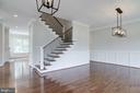 Open, light and inviting foyer entrance. - 2054 ARCH DR, FALLS CHURCH