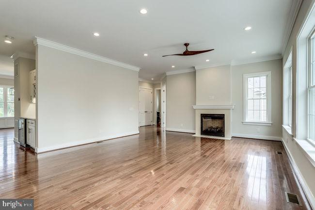 Charming family room with fireplace. - 2054 ARCH DR, FALLS CHURCH
