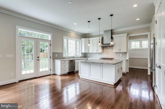 Large gourmet kitchen opens to patio #1. - 2054 ARCH DR, FALLS CHURCH