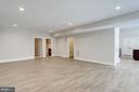 Lower level rec room. - 2054 ARCH DR, FALLS CHURCH
