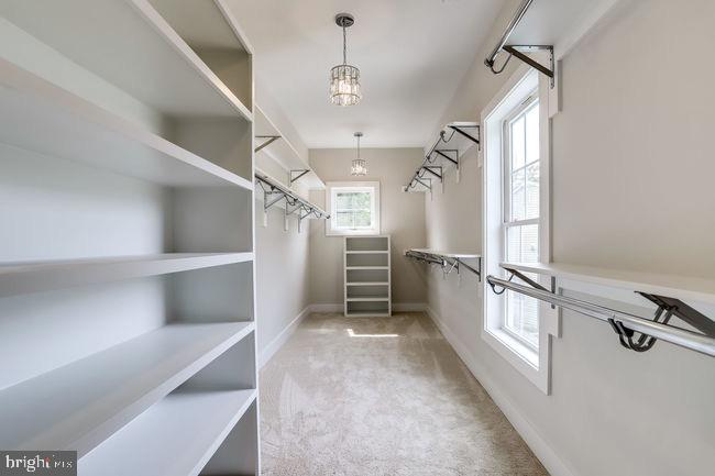 Master custom walk-in closet w/ plentiful storage. - 2054 ARCH DR, FALLS CHURCH