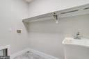 Upper level laundry room with W/D hook-ups. - 2054 ARCH DR, FALLS CHURCH