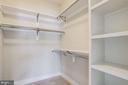 Bedroom walk-in closet. - 2054 ARCH DR, FALLS CHURCH