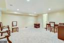 Renovated lower level with crown molding - 2848 S ABINGDON ST, ARLINGTON