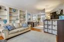 Living room with NO popcorn ceilings! - 2848 S ABINGDON ST, ARLINGTON