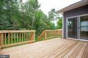 Deck overlooking wooded yard! - 170 LITTLE WHIM, FREDERICKSBURG