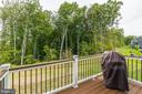 This lot backs to trees and owner added a deck! - 17985 WOODS VIEW DR, DUMFRIES