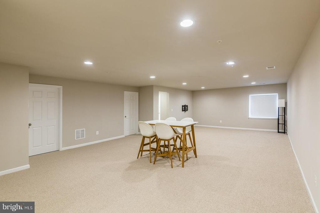 The basement is finished with full bath - 17985 WOODS VIEW DR, DUMFRIES