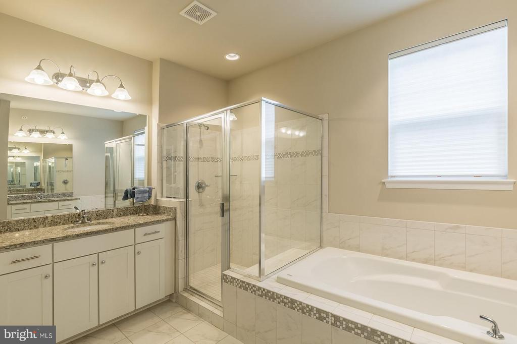 Beautiful master bath with jacuzzi brand soak tub - 17985 WOODS VIEW DR, DUMFRIES