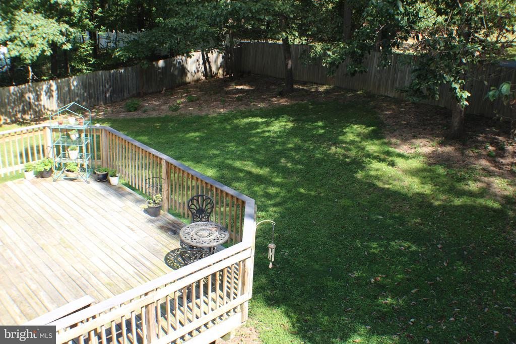 View of back yard from master bath - 7738 TALBOT RUN RD, MOUNT AIRY
