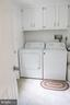 Laundry room off of kitchen first floor - 7738 TALBOT RUN RD, MOUNT AIRY