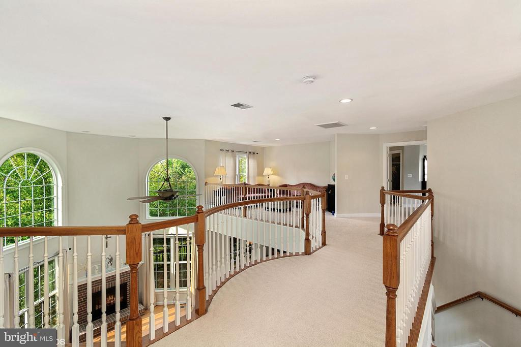 HALL WITH FRONT FOYER STAIRS AND REAR  STAIRS - 8900 GRIST MILL WOODS CT, ALEXANDRIA