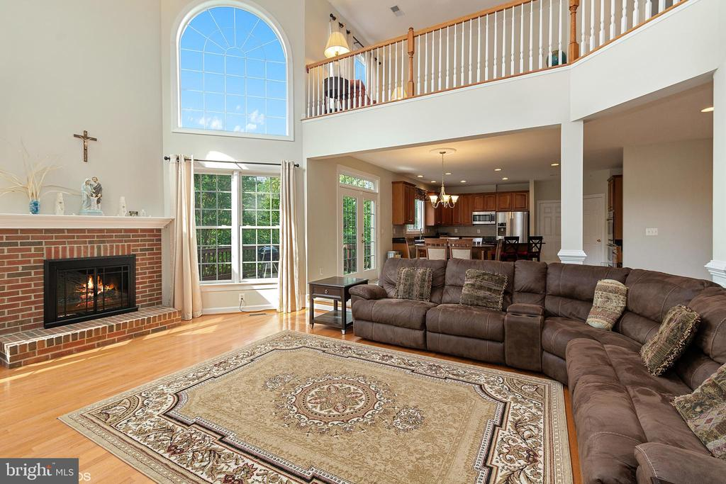 FAMILY ROOM WITH BACK WALL BUMP OUT 19 FT CEILING - 8900 GRIST MILL WOODS CT, ALEXANDRIA