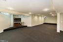 REC ROOM WITH MEDIA AREA UNDER FAMILY ROOM BAY - 8900 GRIST MILL WOODS CT, ALEXANDRIA