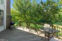 DECK OFF COUNTRY KITCHEN - 8900 GRIST MILL WOODS CT, ALEXANDRIA