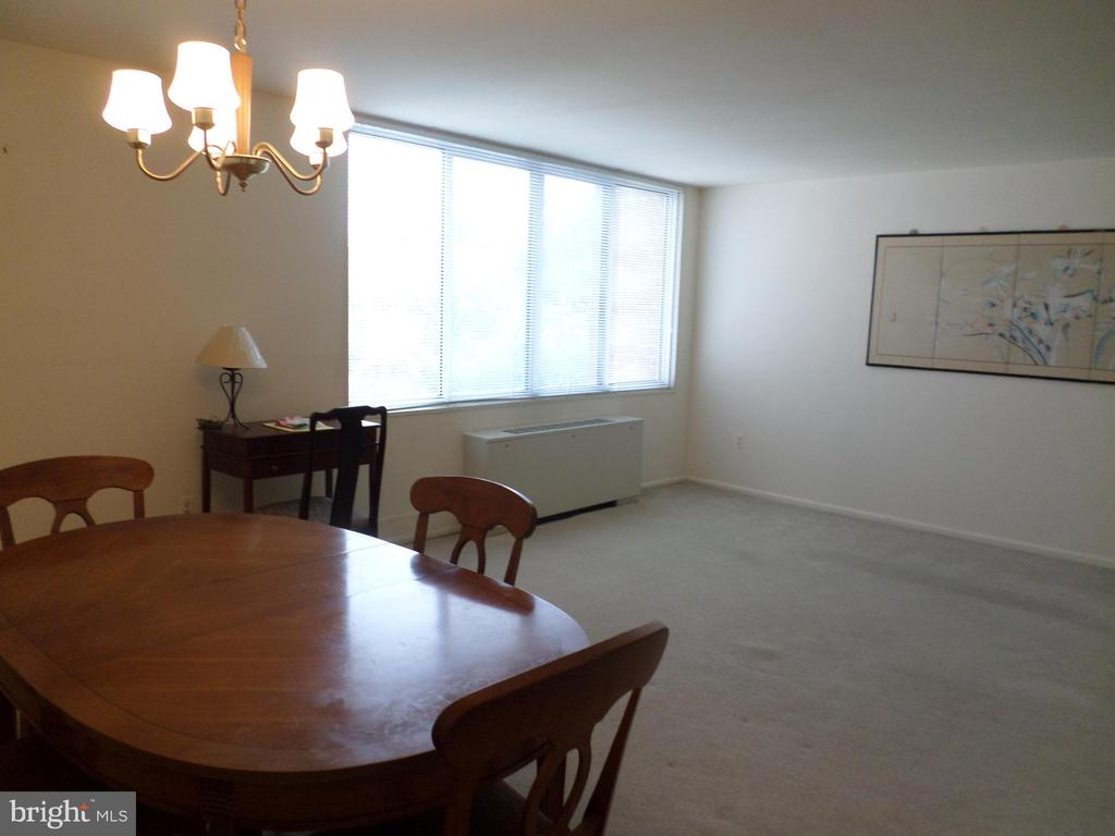 Dining-Room table and living-room - 2939 VAN NESS ST NW #726, WASHINGTON