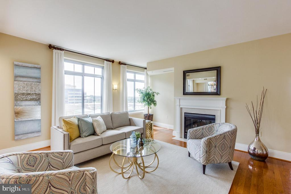 Living Room - 11990 MARKET ST #812, RESTON