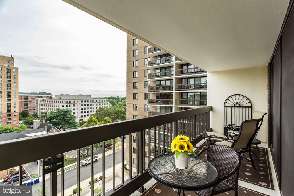 Large 6' x 20' Balcony - Looking South East - 3800 FAIRFAX DR #704, ARLINGTON