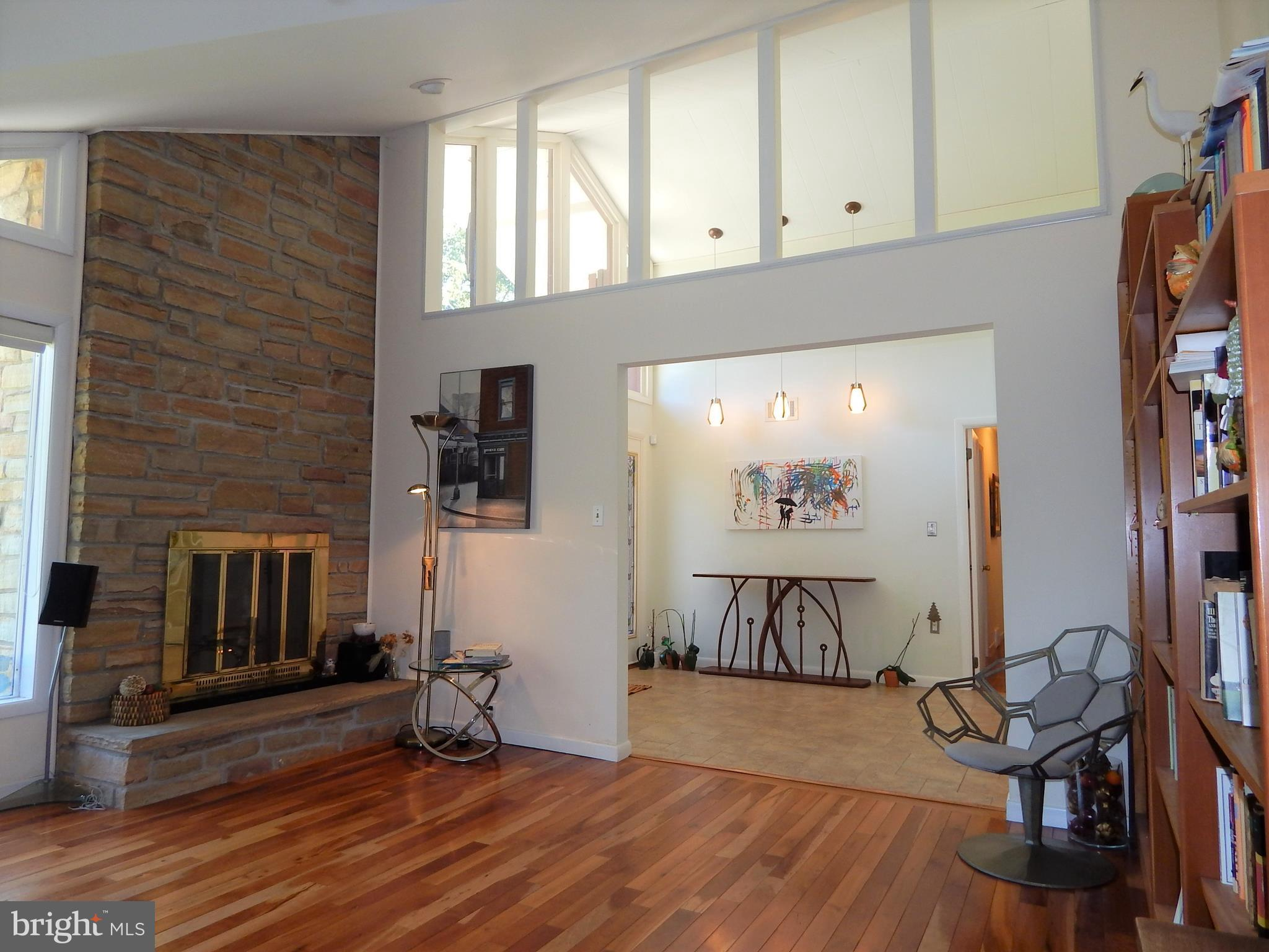 View from living room of the entry foyer