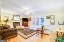 Family Room w/ Wood Floors & Gas Fireplace - 9806 RAMSAY DR, FREDERICKSBURG