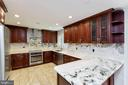 Remodeled Kitchen with SS appliances & breakfast - 13315 QUEENS LN, FORT WASHINGTON