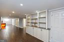 Lower Level Recreation Room with Built-ins - 13315 QUEENS LN, FORT WASHINGTON