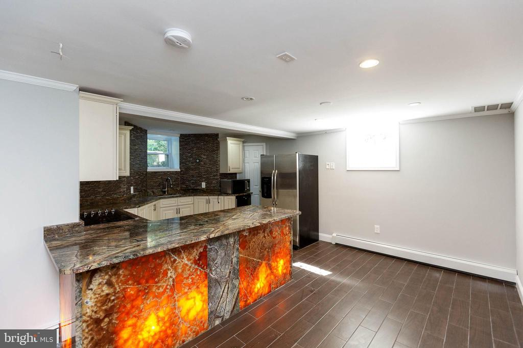 2nd Kitchen with SS appliances-counter seating - 13315 QUEENS LN, FORT WASHINGTON