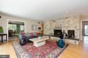 First Floor Family Room with Stone wall Fireplace - 2815 N LEXINGTON ST, ARLINGTON
