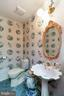 Powder room off of library - 2815 N LEXINGTON ST, ARLINGTON