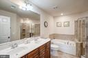 Master bathroom has dual sinks - 43526 STONECLIFF TER, CHANTILLY