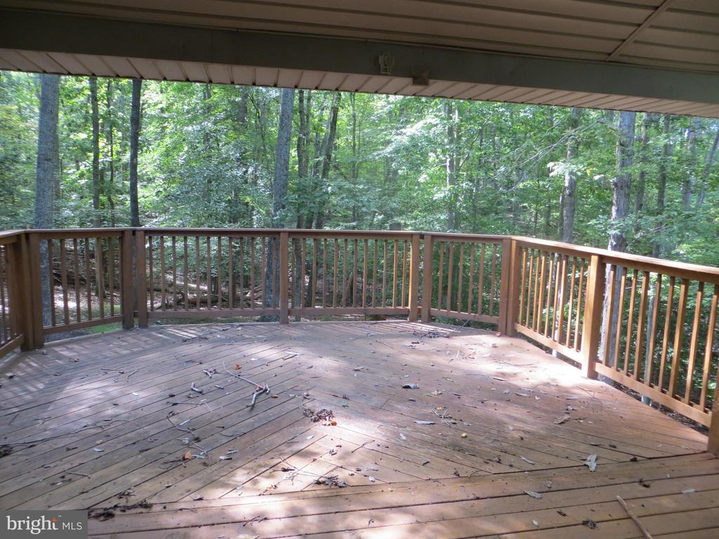 expansive decking overlooks the woods - 903 EASTOVER PKWY, LOCUST GROVE