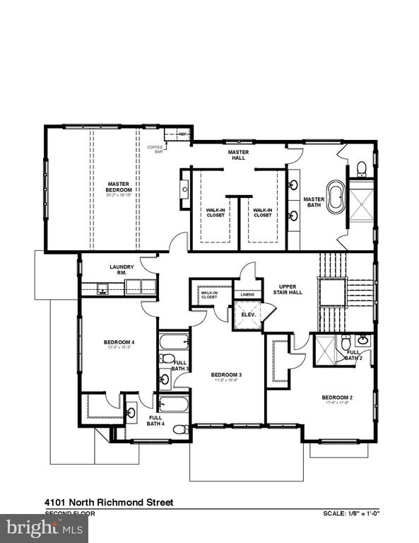 Upper Level Floorplan - 4101 N RICHMOND ST, ARLINGTON