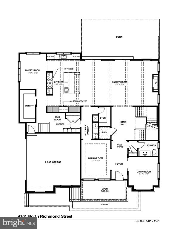 Main Level Floorplan - 4101 N RICHMOND ST, ARLINGTON